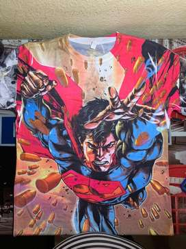 Camiseta comics superman