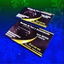 tarjetas couche 325 gr terminado UV
