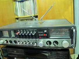 Sencor Mobile Hi-fi S-5000 -sintoamplificador + Cassettera
