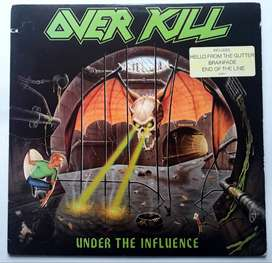 Overkill Under The Influence Lp First Prees Promo 1988
