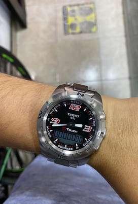 Reloj Tissot Expert En Acero Touch Zafirado Suizo Original