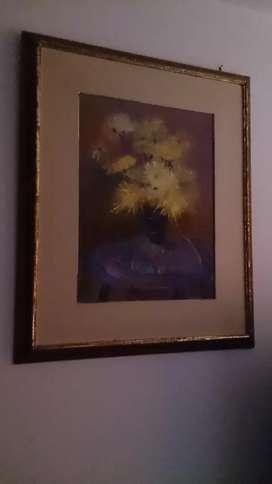 Vendo pintura al oleo antiguo 80cm x 67cm