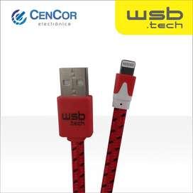 Cable de Tela de carga/datos para Iphone WSB.tech! CenCor Electrónica