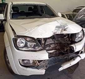 VW AMAROK 2014 4X4 HIGHLINE CHOCADO