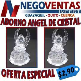 ADORNO ANGEL DE CRISTAL