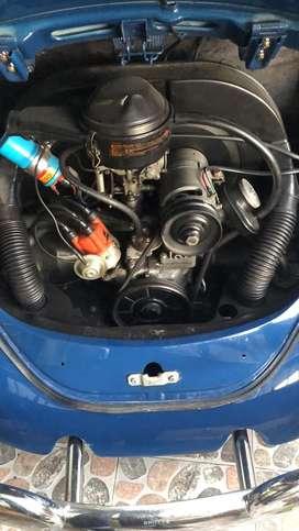Espectacular Volkswagen escarabajo restaurado placas de clasico