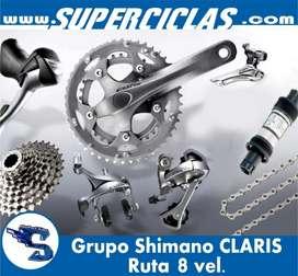 grupo shimano ruta CLARIS 8 velocidades