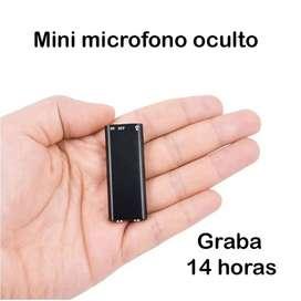 Microfono OCULTO Mini Oculto Con Memoria, Escuche En La Pc