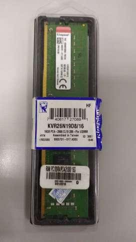 Memoria Ram  Pc Kingston 16gb Ddr4 2666