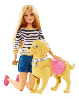 Barbie Paseo De Perrito Camina Y Hace Popo Mattel Original