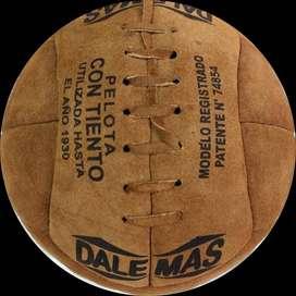 Pelota Vintage 1930 DALEMAS de Colección  100% en cuero vacuno