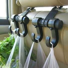 Colgador Doble Multiuso Bolsas Asiento De Auto Pack 2