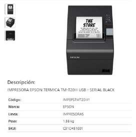 Impresora Epson Térmica