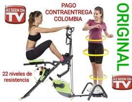 Body Crunch Evolution 22 Niveles,  con bicicleta, maquina de ejercicio