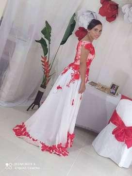 Vestido de novia dos colores