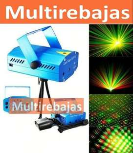 Proyector Laser Lluvia Luces Led Ritmico Fiesta Eventos