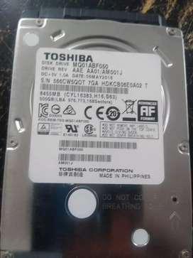 Disco duro TOSHIBA 500GB negociable