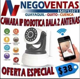 CAMARA IP ROBOTICA BALA 2 ANTENAS EXCLUSIVAMENTE EN DESCUENTO SOLO EN NEGOVENTAS