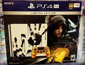 Consola PS4 Pro 4k Death Stranding PlayStation Nuevo Sellado