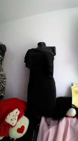 Vestido negro para reunión talla 8 americano