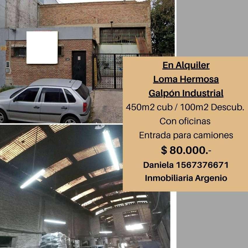 Galpón industrial 500m2 - LOMA HERMOSA 0