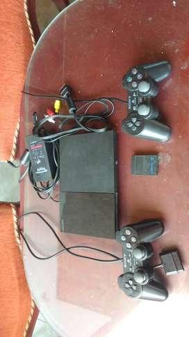 PlayStaion 2 ps2 con 2 controles y juegos