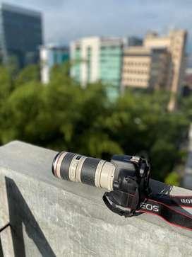 Canon Eos Rebel t6 con lente