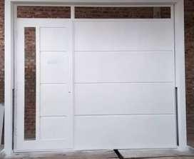 """Portón chapa 18"""" con puerta"""