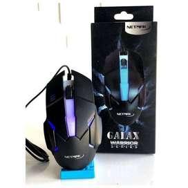 Mouse Gamer NETMAK Series GALAX Usb Retroiluminado High Speed