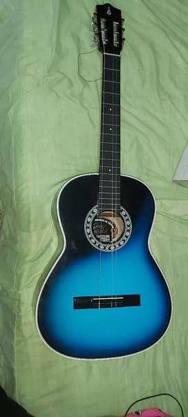 Guitarra clásica azul/negro