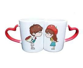 Mugs Vasos Pocillos Personalizados Amor Parejas Corazon