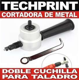 Cortador De Metal Para Taladro Doble Cuchilla Sierra Electrica