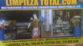 venta de almacen productos para el aseo , hogar industrial e institucional