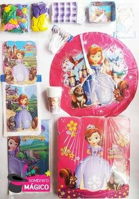 Kit Fiesta Princesita Sofia para 24 personas