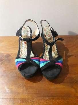 Sandalias Zapato nobuk con Plataforma Nena 36