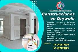 Construccion y Remodelacion con drywall,tabiquieria,diviciones,construccion de oficinas,expansiones,cielo raso