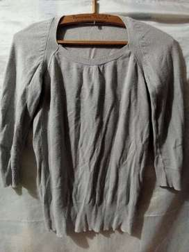 Suéter mujer talla M gris