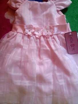 Vestido rosa para niña americano