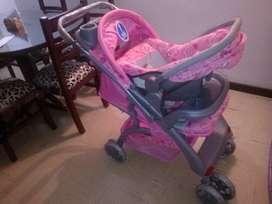 Coche para niña con silla para auto