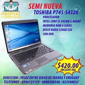 Laptop Toshiba Seminueva