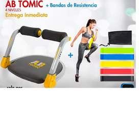 Ah Tomic 4 niveles de entrenamiento abdomen firme y tonificado, OBSEQUIO 5 BANDAS DE EJERCICIO
