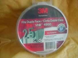 4950 Vhb 19 Mm X 5 Mts -cinta Doble Faz Exterior MARCA 3M