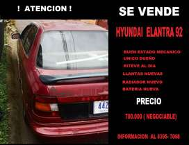 Vendo automovil  HYUNDAY