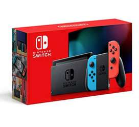 Nintendo Switch Neon Blue and Neon Red Joy