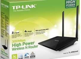 15  dias de uso aprox. Router Inalámbrico TP-LINK TL-WR841HP - Negro (Amplificdor wi-fi)