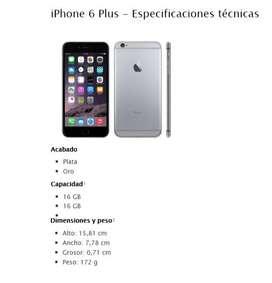 IPHONE 6PLUS 16GB NUEVO