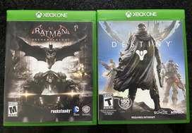 Batman Arkham Knight y Destiny para Xbox One Usados