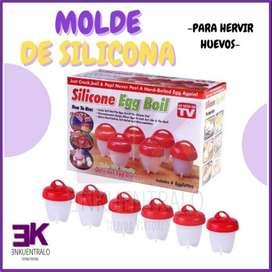 Molde de silicona para hervir huevos
