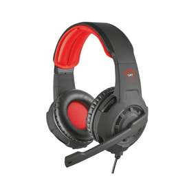 Audífonos Diadema Gamer Trust Gxt 310 3.5 Mm Negro con Rojo
