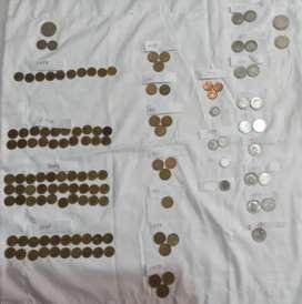 Lote de monedas antiguas colombianas